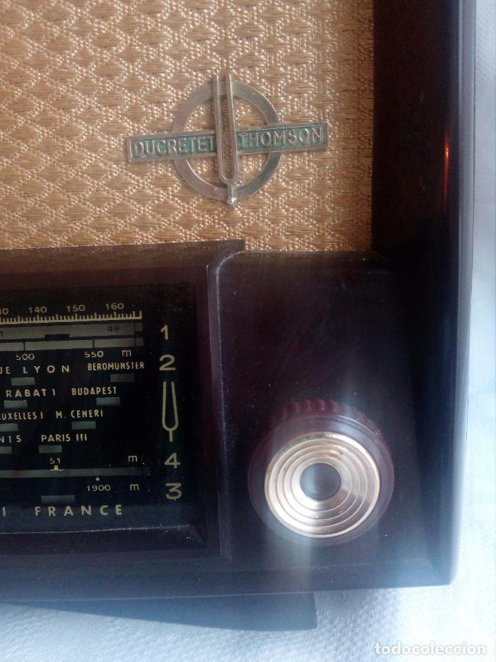 Radios de válvulas: ANTIGUA RADIO DE VÁLVULAS DUCRETET THOMSON - L 724. - Foto 2 - 75258615