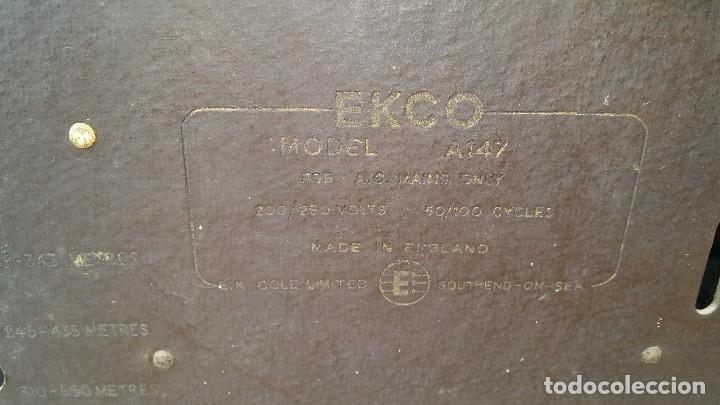 Radios de válvulas: Radio de valvulas Ekco - Foto 9 - 79943437