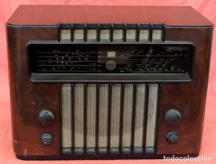 RADIO A VALVULAS MARCONI M-49. FINALES DE LOS AÑOS 40 (Radios, Gramófonos, Grabadoras y Otros - Radios de Válvulas)