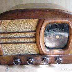 Radios de válvulas: RADIO DE VALVULAS LANCASTER DE MADERA. Lote 87331808