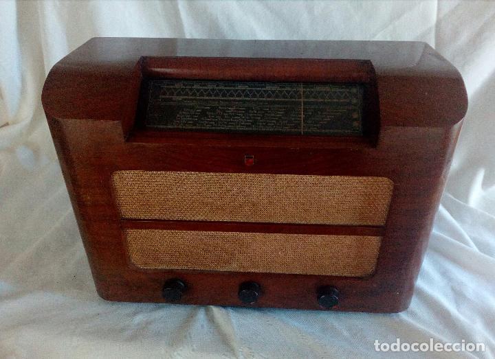 Radios de válvulas: ANTIGUA RADIO PHILIPS ( FABRICADA EN HOLANDA ) FUNCIONANDO. - Foto 5 - 90851670