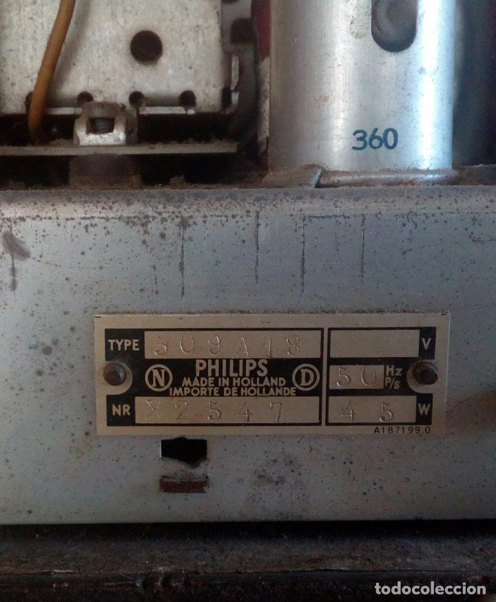 Radios de válvulas: ANTIGUA RADIO PHILIPS ( FABRICADA EN HOLANDA ) FUNCIONANDO. - Foto 8 - 90851670