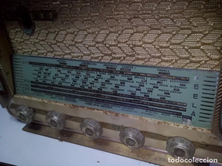Radios de válvulas: Antigua radio/tocadiscos francesa REELA - Foto 5 - 91188950