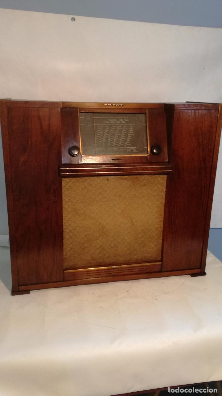 RADIO GRANDE WALDORP L R (Radios, Gramófonos, Grabadoras y Otros - Radios de Válvulas)