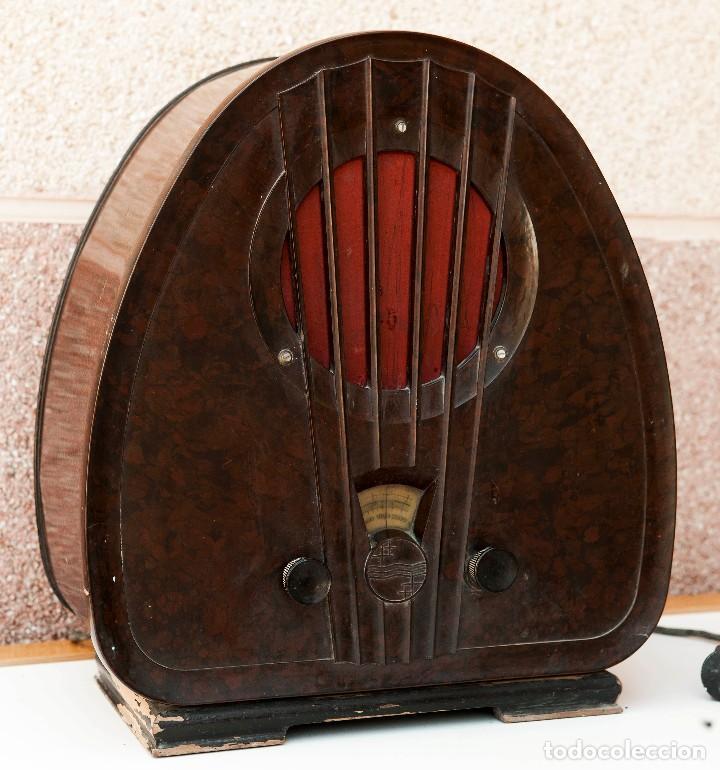 Radios de válvulas: ESPECTACULAR RADIO DE VÁLVULAS PHILIPS 834 AS, RADIO CAPILLA, FUNCIONANDO. AÑO 1933 - Foto 3 - 92455190