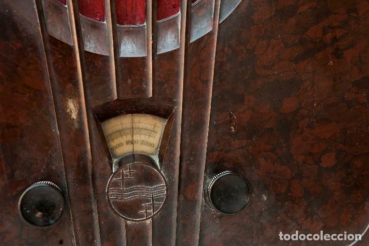 Radios de válvulas: ESPECTACULAR RADIO DE VÁLVULAS PHILIPS 834 AS, RADIO CAPILLA, FUNCIONANDO. AÑO 1933 - Foto 4 - 92455190