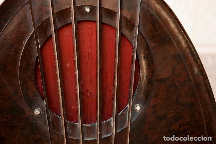 Radios de válvulas: ESPECTACULAR RADIO DE VÁLVULAS PHILIPS 834 AS, RADIO CAPILLA, FUNCIONANDO. AÑO 1933 - Foto 5 - 92455190