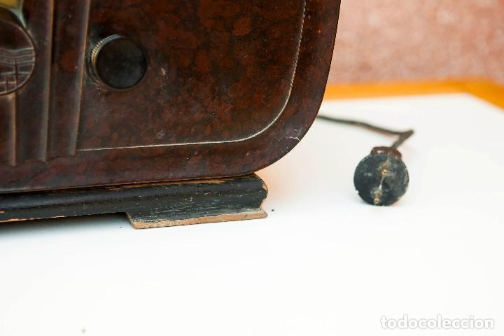 Radios de válvulas: ESPECTACULAR RADIO DE VÁLVULAS PHILIPS 834 AS, RADIO CAPILLA, FUNCIONANDO. AÑO 1933 - Foto 9 - 92455190