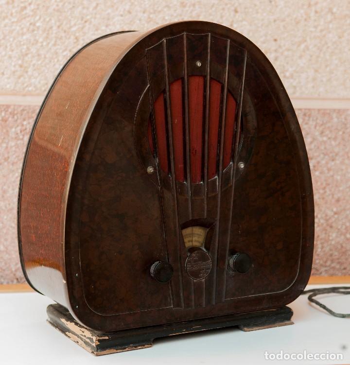 Radios de válvulas: ESPECTACULAR RADIO DE VÁLVULAS PHILIPS 834 AS, RADIO CAPILLA, FUNCIONANDO. AÑO 1933 - Foto 13 - 92455190