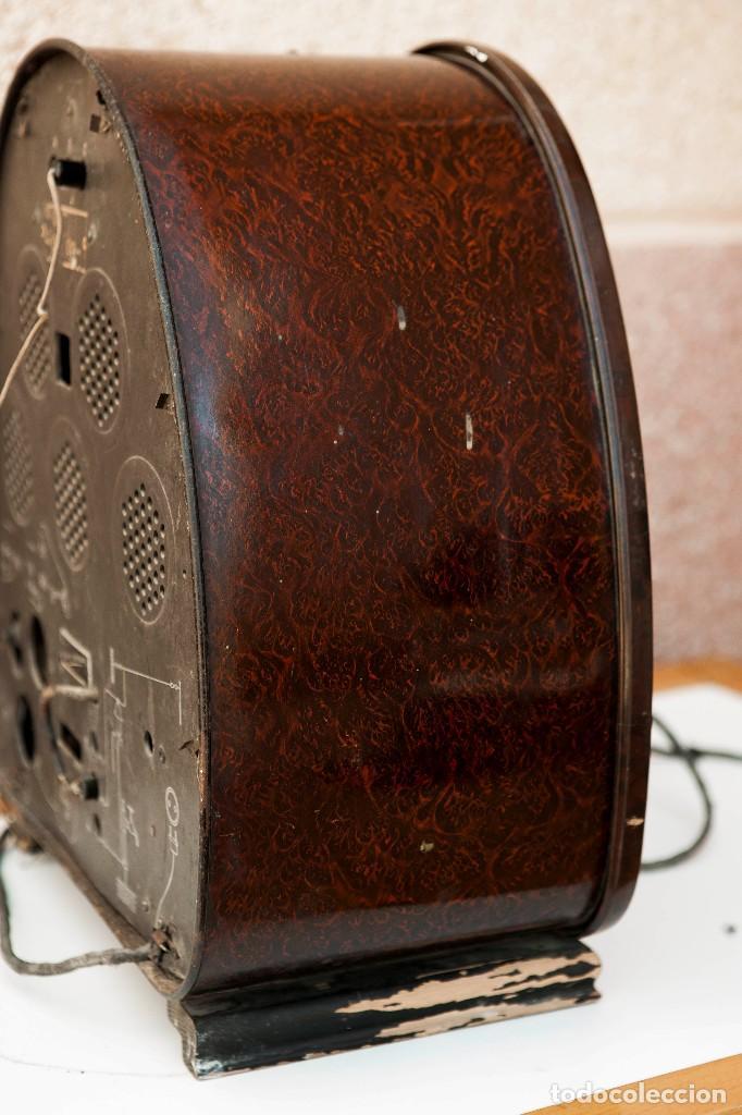 Radios de válvulas: ESPECTACULAR RADIO DE VÁLVULAS PHILIPS 834 AS, RADIO CAPILLA, FUNCIONANDO. AÑO 1933 - Foto 14 - 92455190