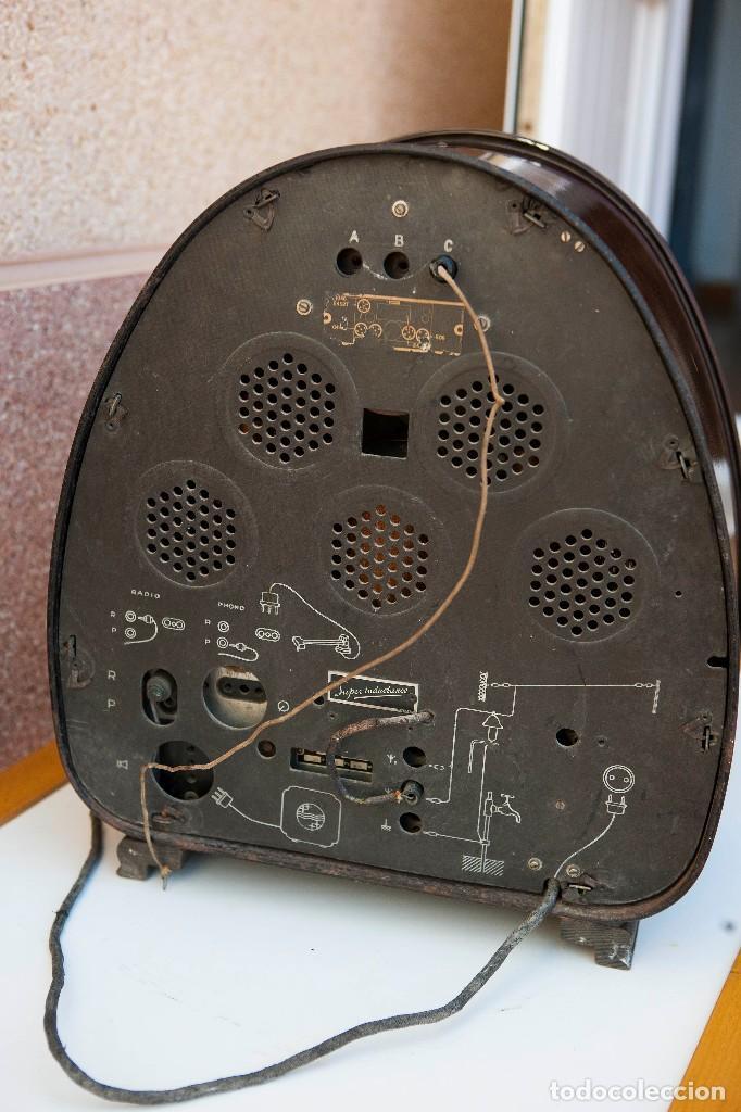 Radios de válvulas: ESPECTACULAR RADIO DE VÁLVULAS PHILIPS 834 AS, RADIO CAPILLA, FUNCIONANDO. AÑO 1933 - Foto 16 - 92455190