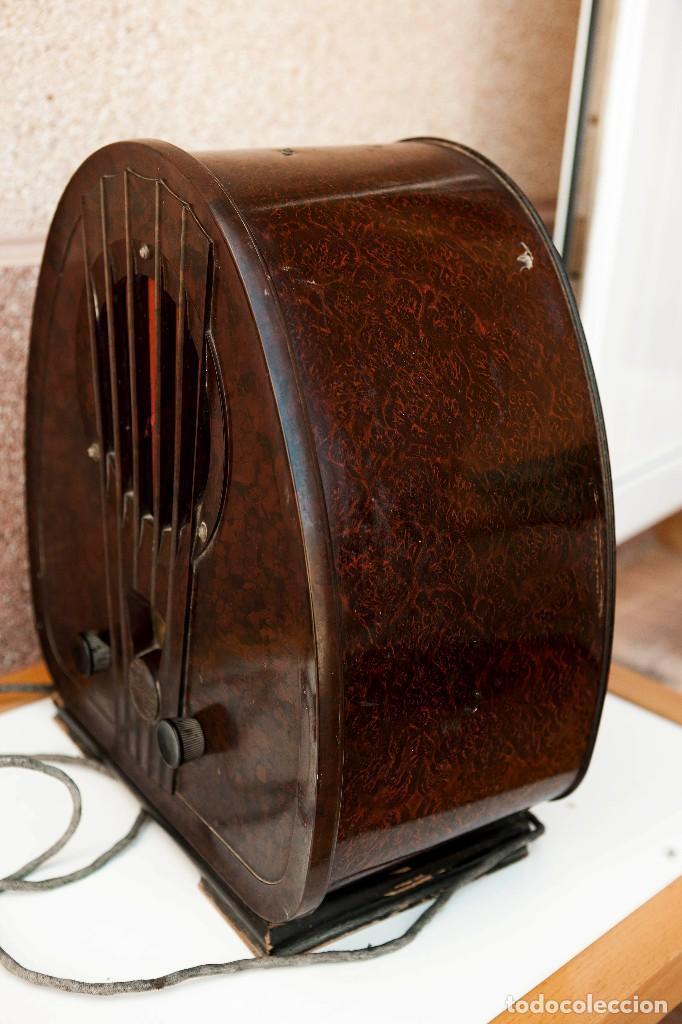 Radios de válvulas: ESPECTACULAR RADIO DE VÁLVULAS PHILIPS 834 AS, RADIO CAPILLA, FUNCIONANDO. AÑO 1933 - Foto 19 - 92455190