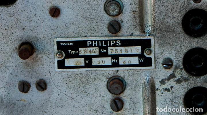 Radios de válvulas: ESPECTACULAR RADIO DE VÁLVULAS PHILIPS 834 AS, RADIO CAPILLA, FUNCIONANDO. AÑO 1933 - Foto 23 - 92455190