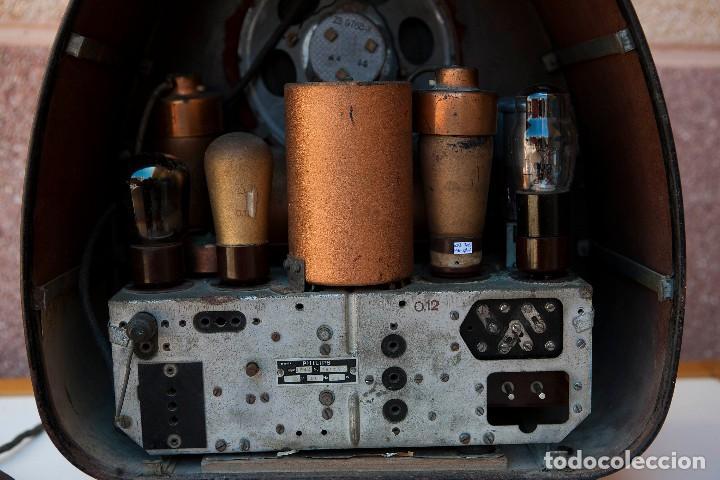 Radios de válvulas: ESPECTACULAR RADIO DE VÁLVULAS PHILIPS 834 AS, RADIO CAPILLA, FUNCIONANDO. AÑO 1933 - Foto 25 - 92455190