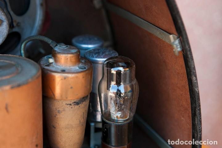 Radios de válvulas: ESPECTACULAR RADIO DE VÁLVULAS PHILIPS 834 AS, RADIO CAPILLA, FUNCIONANDO. AÑO 1933 - Foto 30 - 92455190