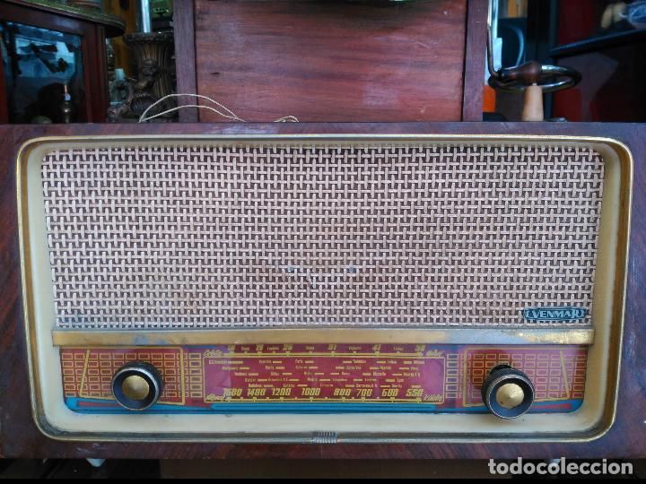 ANTIGÜA RADIO DE VALVULAS MARCA VENMAR FUNCIONANDO (Radios, Gramófonos, Grabadoras y Otros - Radios de Válvulas)