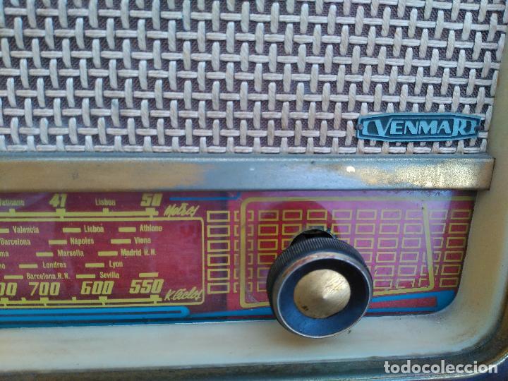 Radios de válvulas: ANTIGÜA RADIO DE VALVULAS MARCA VENMAR FUNCIONANDO - Foto 2 - 94811123