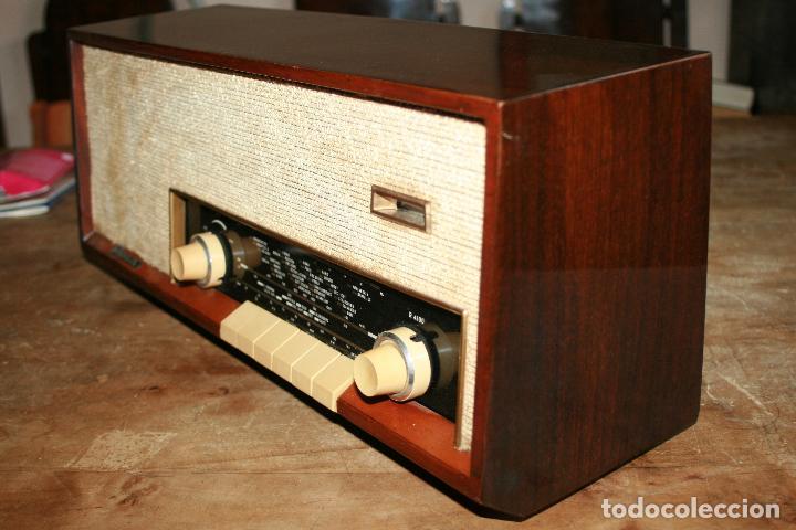 Radios de válvulas: Muy bonita Radio de válvulas Tungsram 4500, no funciona, para decoracion o para reparar - Foto 3 - 116833796