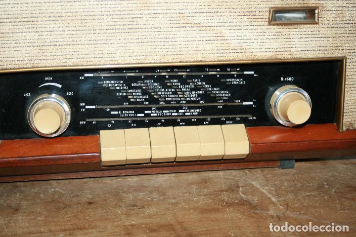 Radios de válvulas: Muy bonita Radio de válvulas Tungsram 4500, no funciona, para decoracion o para reparar - Foto 6 - 116833796