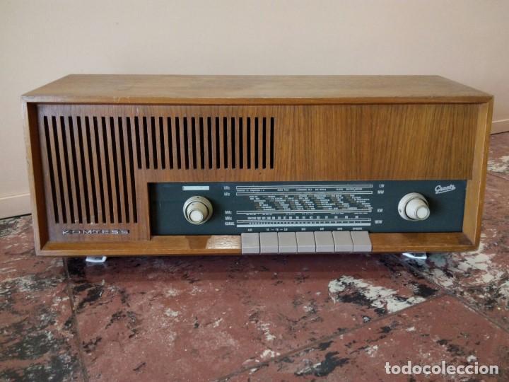 RADIO ALEMANA GRAETZ KOMTESS AÑO 1965-66. (Radios, Gramófonos, Grabadoras y Otros - Radios de Válvulas)