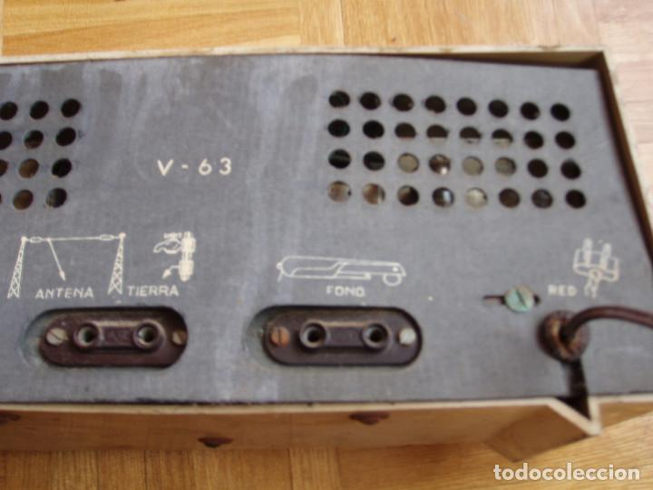 Radios de válvulas: ANTIGUA ( RETRO VINTAGE) RADIO DE VALVULAS . - Foto 7 - 97518555