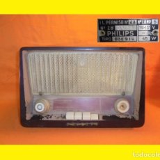 Radios de válvulas: ANTIGUO RADIO A VÁLVULAS MODELO: B3E91U - PHILIPS IBERICA S.A.E. MADRID ESPAÑA 1959. Lote 99168627