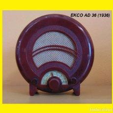 Radios de válvulas: RADIO DE LA COLECCIÓN RADIOS DE ANTAÑO EKCO AD 36 (1936) FUNCIONANDO R 005. Lote 99441783