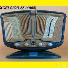 Radios de válvulas: RADIO DE LA COLECCIÓN RADIOS DE ANTAÑO EXCELSIOR 55 (1955) FUNCIONANDO R 013. Lote 103709180