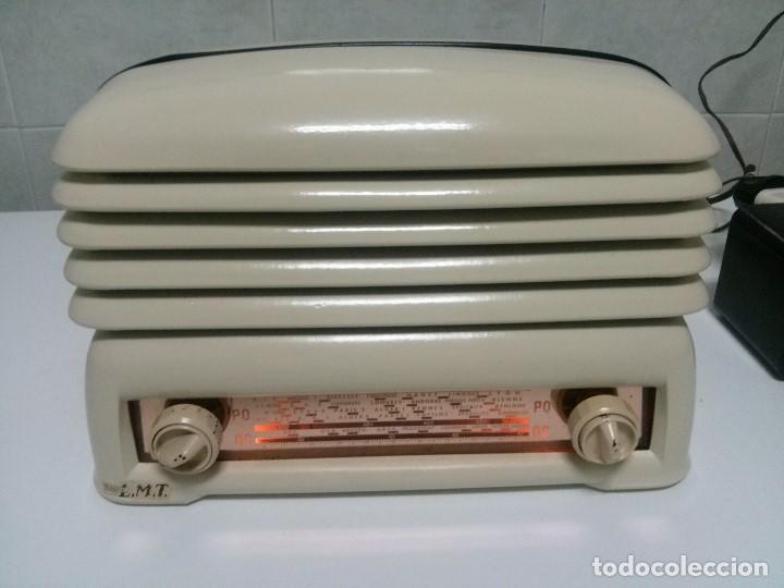 BONITA RADIO DOBLE CARA .SIMETRICA - MUY RARA Y FUNCIONANDO (VER VÍDEO COMPLETO) (Radios, Gramófonos, Grabadoras y Otros - Radios de Válvulas)