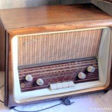 Radios de válvulas: RADIO ANTIGUA JICA MODELO FM-160 1940'S - 38X22X30 125 V ¡FUNCIONA!. Lote 101790323