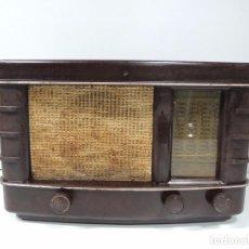 Radios de válvulas: ANTIGUA RADIO DE VÁLVULAS BAQUELITA MARCA PHILIPS AÑOS 50 RARO. Lote 102401087