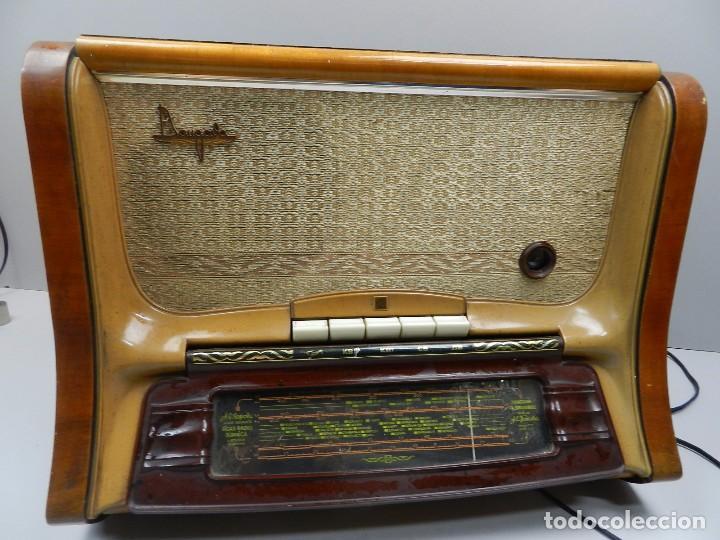 IMPRESIONANTE ANTIGUA RADIO Y TOCADISCOS DE VÁLVULAS MADERA Y BAQUELITA AÑOS 60 USSR RARO (Radios, Gramófonos, Grabadoras y Otros - Radios de Válvulas)