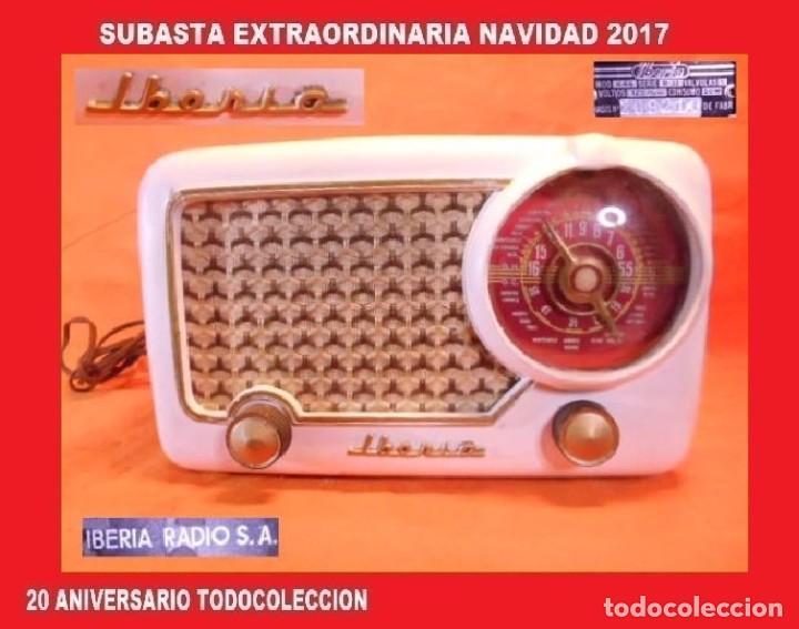 RADIO A VÁLVULAS DE LA GENUINA MARCA ESPAÑOLA IBERIA, MODELO B-32, DEL AÑO 1.952 (Radios, Gramófonos, Grabadoras y Otros - Radios de Válvulas)