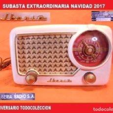 Radios de válvulas: RADIO A VÁLVULAS DE LA GENUINA MARCA ESPAÑOLA IBERIA, MODELO B-32, DEL AÑO 1.952. Lote 104089439