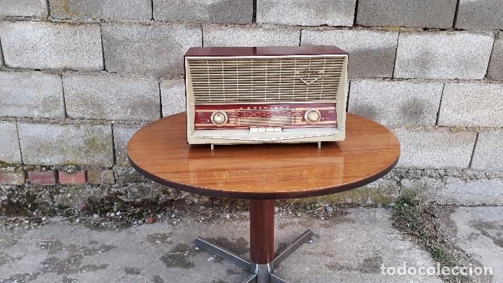 Radios de válvulas: Radio antigua de válvulas marca inter modelo haití M.A. radio de 1959 INTER modelo haití. RAREZA - Foto 5 - 173630018