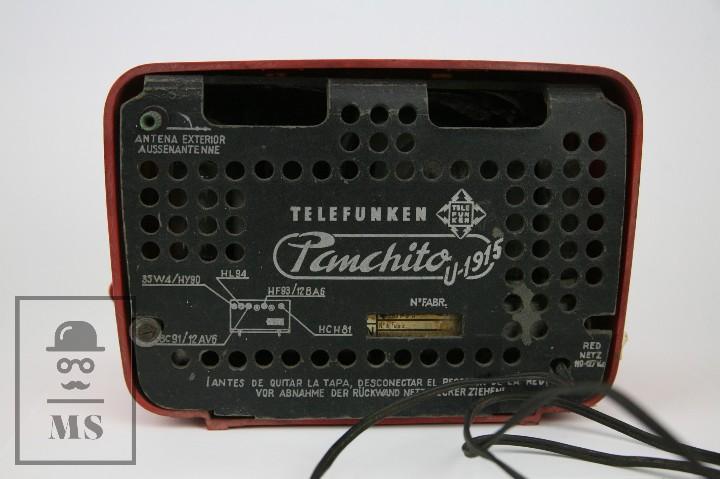 Radios de válvulas: Antigua Radio de Válvulas - Telefunken. Panchito U-1915 - Color Rojo - Años 60 - Foto 5 - 107870946