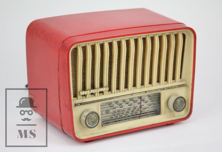 ANTIGUA RADIO DE VÁLVULAS - TELEFUNKEN. PANCHITO U-1915 - COLOR ROJO - AÑOS 60 (Radios, Gramófonos, Grabadoras y Otros - Radios de Válvulas)