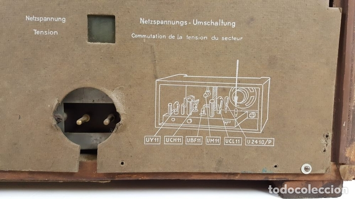 Radios de válvulas: RADIO A VÁLVULAS. OLYMPIA. MODELO 423 GWK. ALEMANIA. 1939 / 1940. - Foto 8 - 105900015