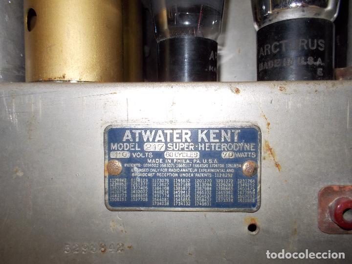 Radios de válvulas: Radio atwater kent - Foto 12 - 108804295