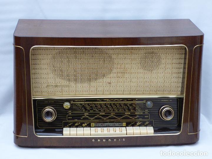 Radios de válvulas: Antigua radio de válvulas marca GRUNDIG, muy bien conservada, funcionando con buen sonido (ver vídeo - Foto 4 - 109154331