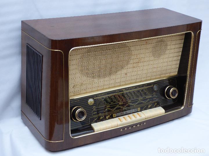 Radios de válvulas: Antigua radio de válvulas marca GRUNDIG, muy bien conservada, funcionando con buen sonido (ver vídeo - Foto 5 - 109154331
