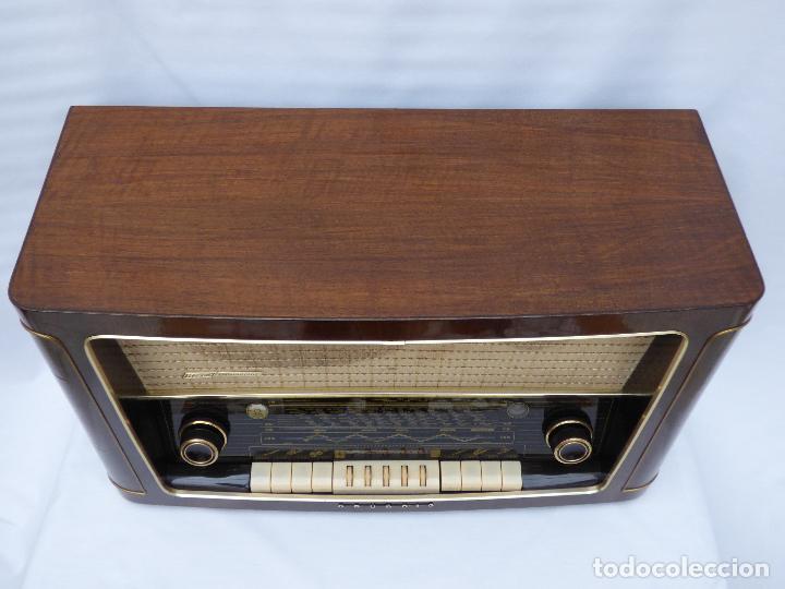 Radios de válvulas: Antigua radio de válvulas marca GRUNDIG, muy bien conservada, funcionando con buen sonido (ver vídeo - Foto 7 - 109154331
