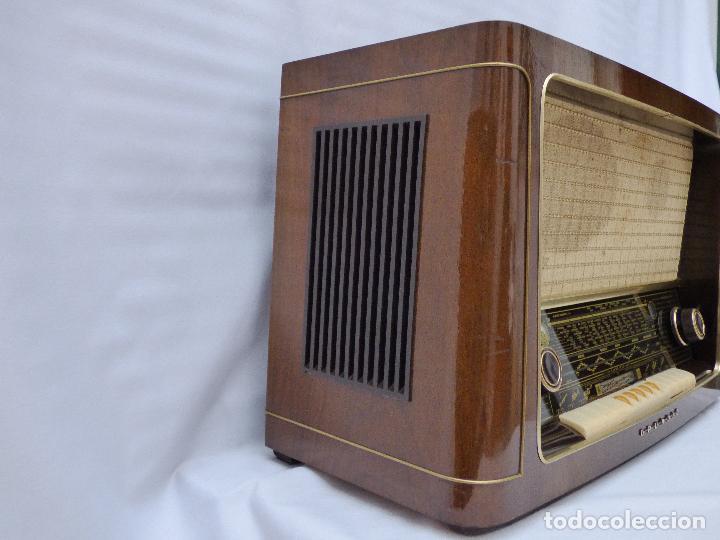 Radios de válvulas: Antigua radio de válvulas marca GRUNDIG, muy bien conservada, funcionando con buen sonido (ver vídeo - Foto 8 - 109154331