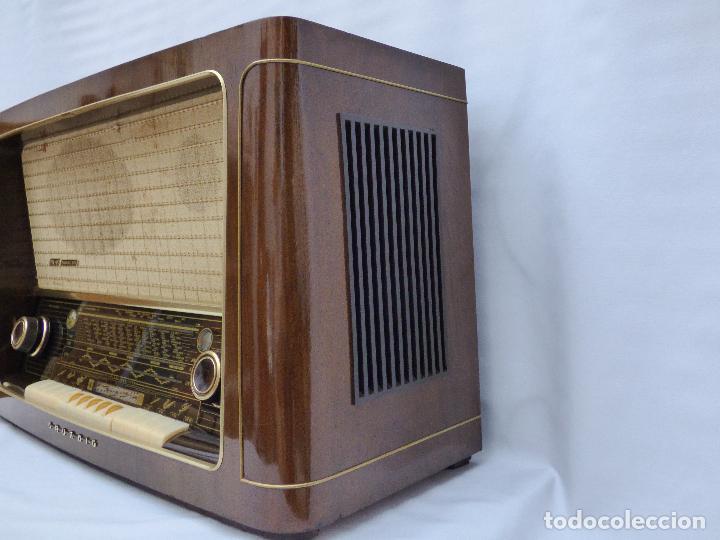 Radios de válvulas: Antigua radio de válvulas marca GRUNDIG, muy bien conservada, funcionando con buen sonido (ver vídeo - Foto 9 - 109154331