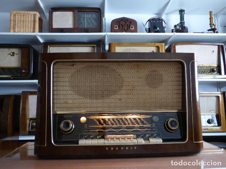 Radios de válvulas: Antigua radio de válvulas marca GRUNDIG, muy bien conservada, funcionando con buen sonido (ver vídeo - Foto 10 - 109154331