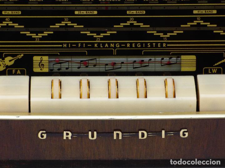 Radios de válvulas: Antigua radio de válvulas marca GRUNDIG, muy bien conservada, funcionando con buen sonido (ver vídeo - Foto 12 - 109154331