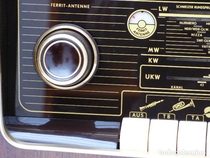 Radios de válvulas: Antigua radio de válvulas marca GRUNDIG, muy bien conservada, funcionando con buen sonido (ver vídeo - Foto 13 - 109154331