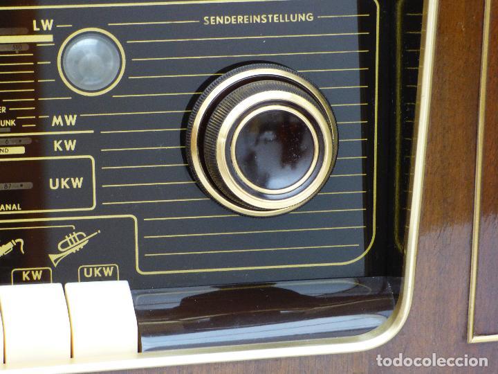 Radios de válvulas: Antigua radio de válvulas marca GRUNDIG, muy bien conservada, funcionando con buen sonido (ver vídeo - Foto 14 - 109154331