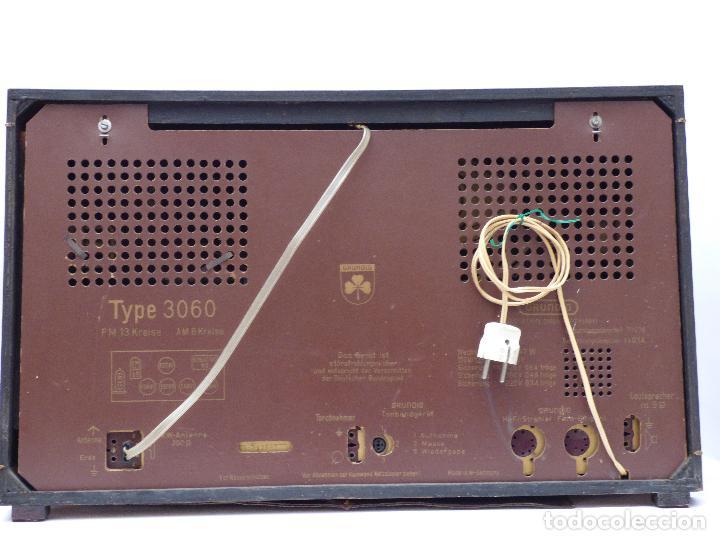 Radios de válvulas: Antigua radio de válvulas marca GRUNDIG, muy bien conservada, funcionando con buen sonido (ver vídeo - Foto 15 - 109154331