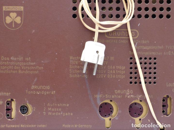 Radios de válvulas: Antigua radio de válvulas marca GRUNDIG, muy bien conservada, funcionando con buen sonido (ver vídeo - Foto 17 - 109154331